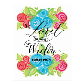 The Lord Supports the Widow Postcard