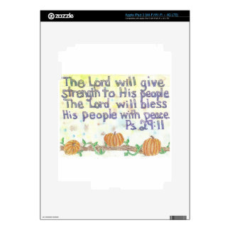 The Lord will Bless iPad 3 Skins