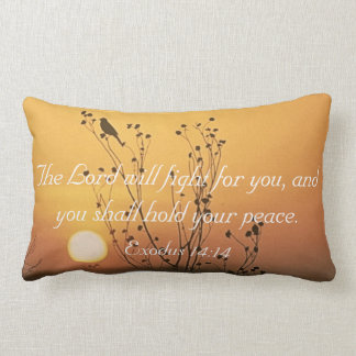 The Lord will fight for you bible verse pillow