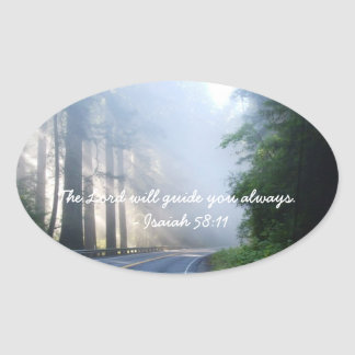 The Lord will guide you always Oval Sticker