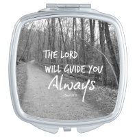 The Lord will guide you bible verse Makeup Mirror
