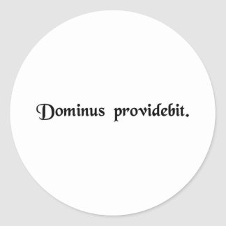 The Lord will provide. Classic Round Sticker