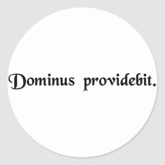 The Lord will provide. Round Stickers