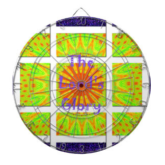 The Lord's Glory Pattern Graphic Text Design Dartboard With Darts