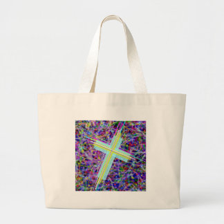 The Lords Kingdom in Multi-Colors. Large Tote Bag