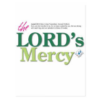 the LORDs mercy Postcard