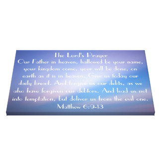The Lord's Pray wrapped canvas Canvas Print