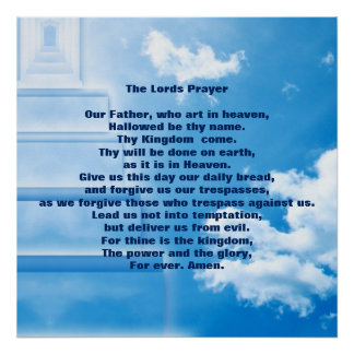 """The Lords Prayer 24"""" x 24"""",Poster Paper (Matte) Poster"""