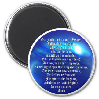 The Lord's Prayer 2 Inch Round Magnet
