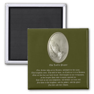 The Lord's Prayer 2 Inch Square Magnet