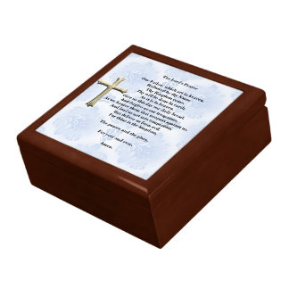 The Lord's Prayer (blue) Keepsake Box