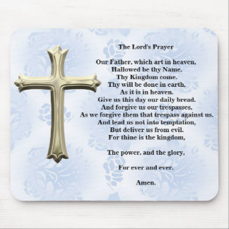 The Lord's Prayer (blue) Mouse Pad