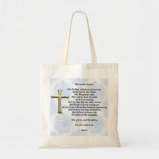 The Lord's Prayer (blue) Tote Bag