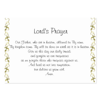 The Lord's Prayer Business Card