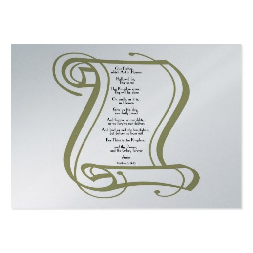 The Lords Prayer Business Card Templates