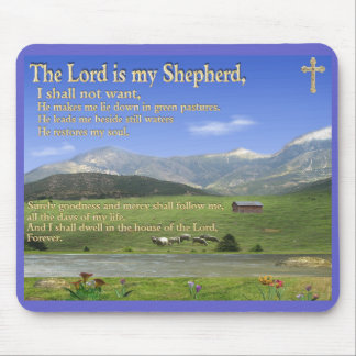 The Lords Prayer Christian mouse pad
