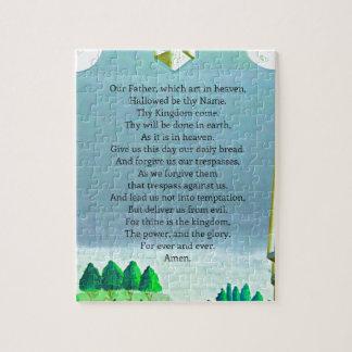 The Lord's Prayer Christian themed art Jigsaw Puzzle