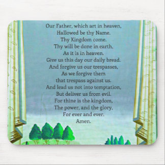 The Lord's Prayer Christian themed art Mouse Pad
