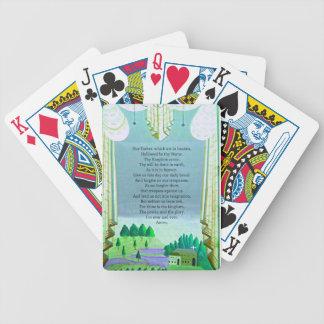 The Lord's Prayer Christian themed art Poker Deck
