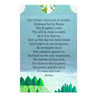 The Lord's Prayer Christian themed art Stationery