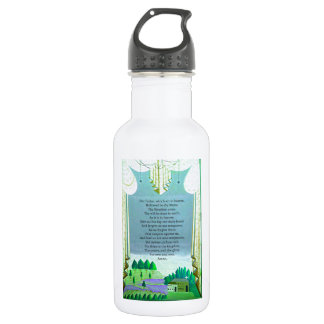 The Lord's Prayer Christian themed art Water Bottle