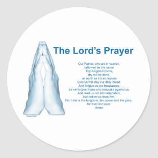 The Lords Prayer Classic Round Sticker