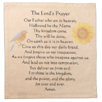 The Lord's Prayer Cloth Napkin
