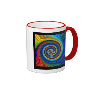 the Lord's prayer cross art  mug