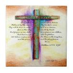 The Lord's Prayer Cross Ceramic Tiles