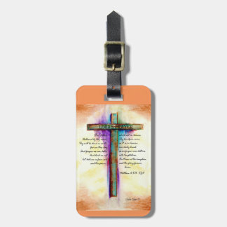 The Lord's Prayer Cross Tag For Bags