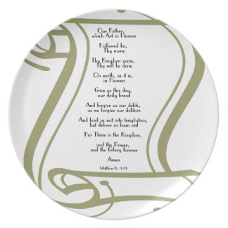 The Lords Prayer Dinner Plate