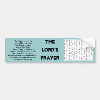 the Lord's prayer in manchu bumper sticker