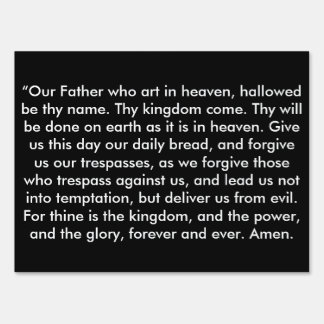 """The Lord's Prayer"" Inspirational Yard Sign"