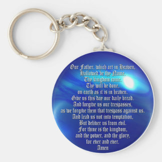 The Lord's Prayer Basic Round Button Keychain