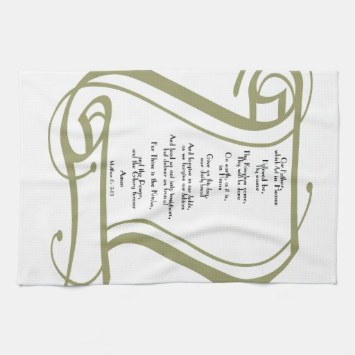 The Lords Prayer Kitchen Towels