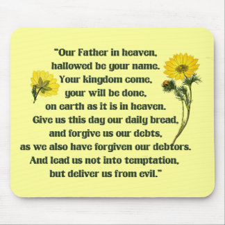 The Lords Prayer Mouse Pad