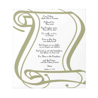 The Lords Prayer Note Pad