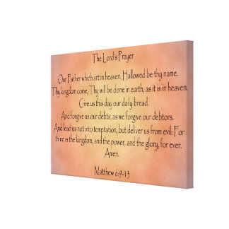 The Lord's Prayer, Orange Vintage Background Canvas Print