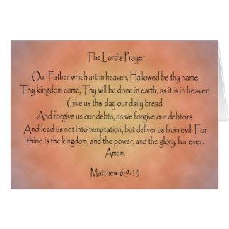 The Lord's Prayer, Orange Vintage Background Cards