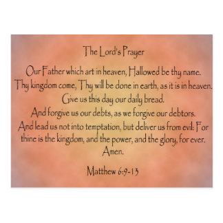 The Lord's Prayer, Orange Vintage Background Postcards