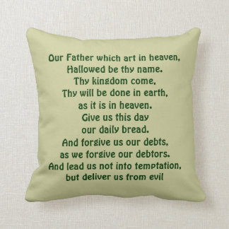 The Lord's Prayer pillow