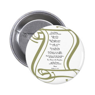 The Lords Prayer Pinback Button