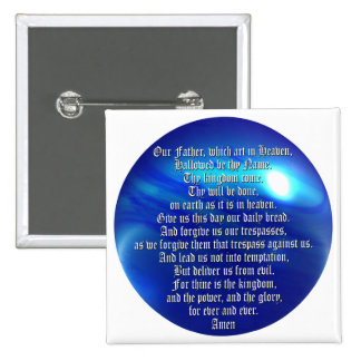 The Lord's Prayer Pinback Button
