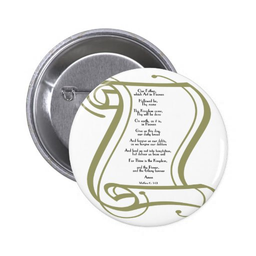 The Lords Prayer Pinback Buttons