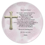 The Lord's Prayer (pink) Dinner Plates