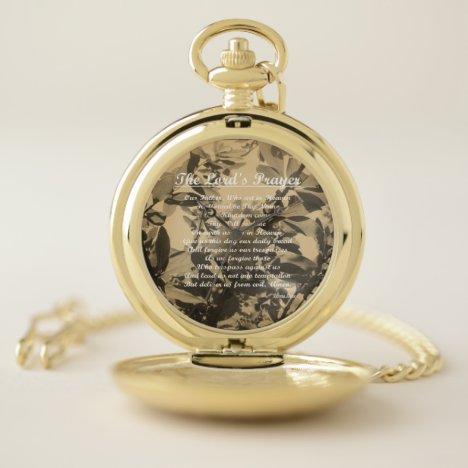 The Lords Prayer Pocket Watch