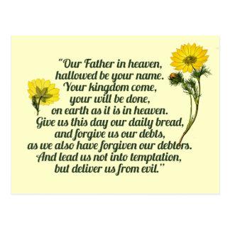 The Lords Prayer Postcard