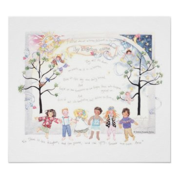Toddler & Baby themed The Lord's Prayer poster print