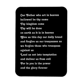 The Lords Prayer Rectangular Photo Magnet