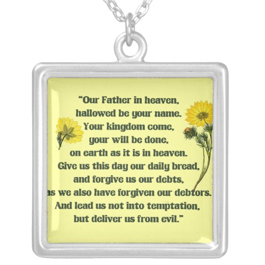 The Lords Prayer Silver Plated Necklace